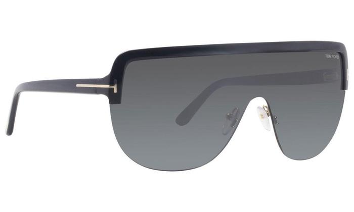 7953b53e9d4e Tom Ford Shield Sunglasses TF560 Angus-02 01A Black/Gold FT0560 01A  FT0560-01A / Black/Gold / Gray