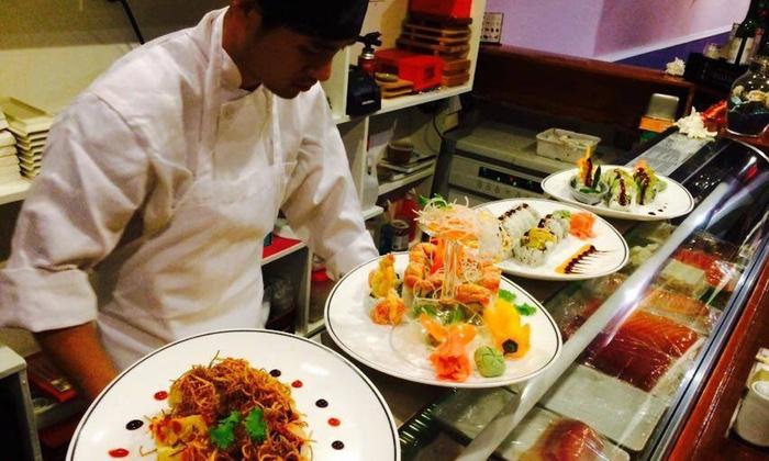 Yokohama Japanese Steakhouse - Yokohama Japanese Steakhouse: Sushi and Asian Cuisine at Yokohama Japanese Steakhouse (Up to 50% Off). Two Options Available.