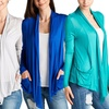 Isaac Liev Women's Lightweight Cardigan with Pockets (4-Pack)