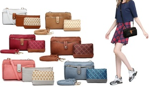 MKF Collection Frangelina Bag and Wallet Set By Mia K. Farrow (3-Pc.)