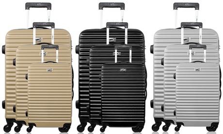 Set de 3 maletas en ABS Bluestar modelo Brazilia