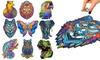 Tier-Holzpuzzel mit verschiedenen Motiven