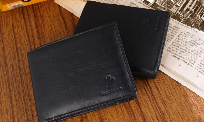 Groupon Goods Global GmbH: Portefeuille 100% Cuir de la marque Monopol