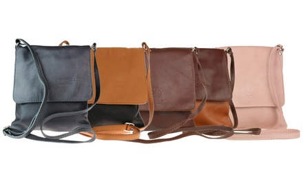 Laura Small Leather Shoulder Bag