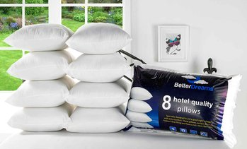Hotel-Quality Pillows Eight-Pack