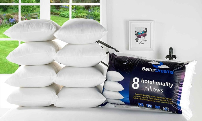 Eight Better Dreams Hotel-Quality Pillows from £17