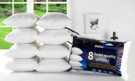 Eight Better Dreams Hotel Quality Pillows