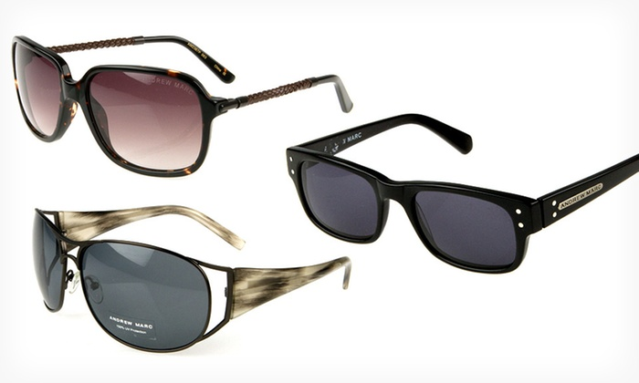 Andrew Marc Sunglasses: $28.99 for One Pair of Andrew Marc Sunglasses (Up to $150 List Price). 19 Options Available. Free Shipping.