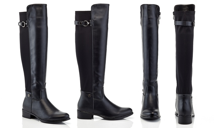 Over The Knee Black Riding Boots