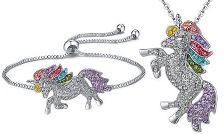 Bracciale o collana con unicorno