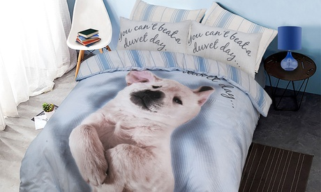 Funda nórdica con diseño de animales con 1 o 2 fundas de almohadas