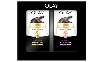 One or Two Olay Total Effects Duo Seven-in-One Gift Sets