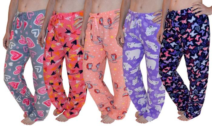 Women's Cozy Fleece Lounge Pants (2-Pack)