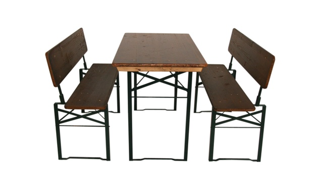 bierzeltgarnitur mit r ckenlehne groupon goods. Black Bedroom Furniture Sets. Home Design Ideas