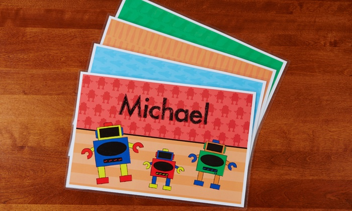 Custom kids 39 laminated placemat from personalization mall for Custom laminations