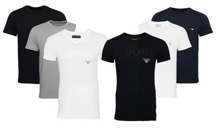 Lot de 2 t shirts Emporio Armani pour homme