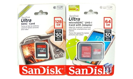 1 o 2 tarjetas de memoria MicroSDXC de 64GB o 128GB (envío gratuito)