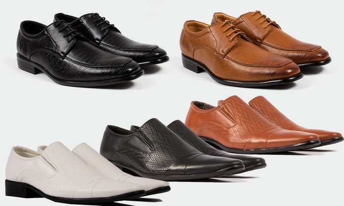 Gino Pheroni Men's Slip-On and Lace-Up Dress Shoes