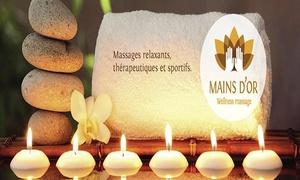 Mains Dor  Wellness Massage: Un massage pour une personne ou un massage-duo à partir de 29,99€  chez Mains D'or