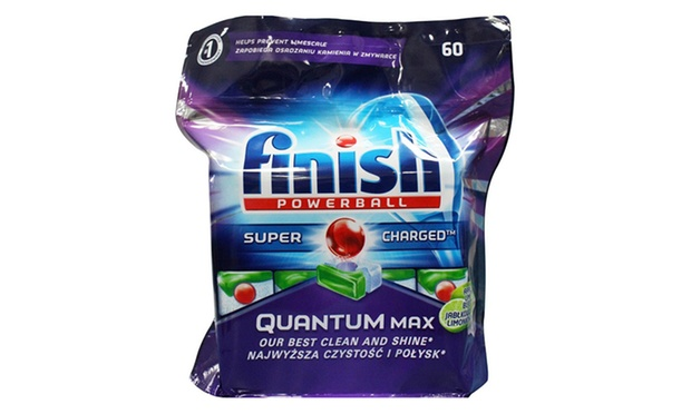 Free Shipping: $59 for 180 Finish Powerball Quantum Max Super Charged Dishwasher Tablets