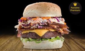 Bacon Paradise - Coração Eucarístico: Hambúrguer gourmet com fritas + refrigerante lata na Bacon Paradise – Coração Eucarístico