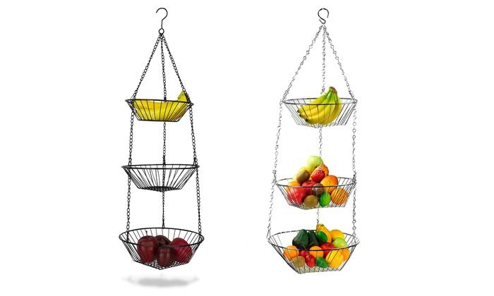 Hanging 3-Tier Baskets : Hanging 3-Tier Baskets