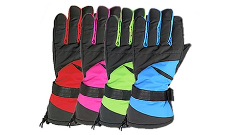 Pair of Winter Ski or Snowboard Thermal Waterproof Gloves