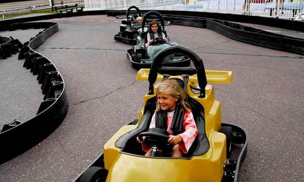 Three Go-Kart Rides with Mini-Golf or Batting Cage Tokens for One or Two at Windy Hill Sports (39% Off)
