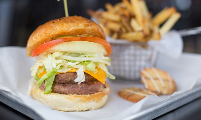 BRGRBELLY - Milwaukee Ave. - Gladstone Park : Gourmet Burgers and Hand-Cut Fries at BRGRBELLY (Up to 50% Off). Two Options Available.
