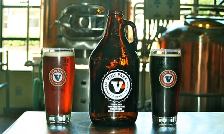 Growler Package or Six-Pack Growler Punch Card at Vine Park Brewing Company (Up to 42% Off)