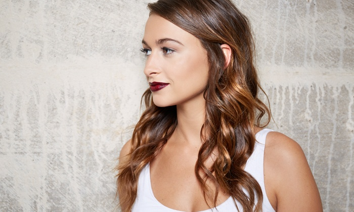 Erica Johnson Hair and Makeup - Lenexa Business Plaza: Cut with Blowout, Highlights, or Relaxer or Smoothing Treatment at Erica Johnson Hair and Makeup (Up to 52% Off)