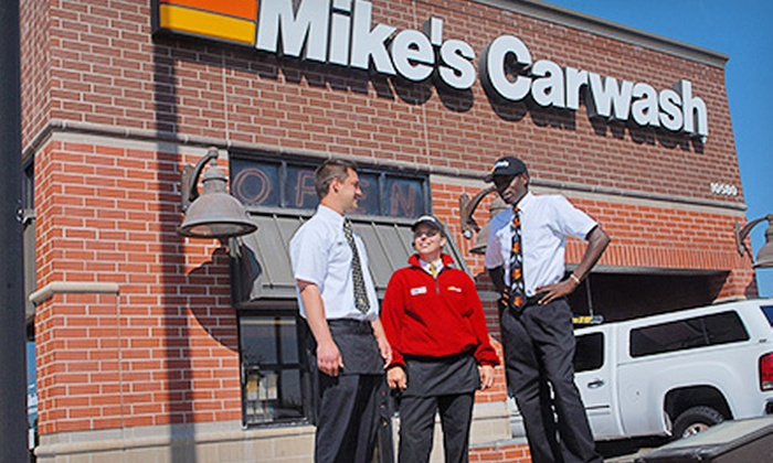 Mike's Carwash - Multiple Locations: $21.99 for Three The Works Carwash Packages at Mike's Carwash ($Up to 45 Value)
