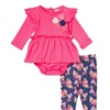 Sweet and Soft Infant Girls' Pants and Creeper Set