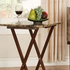 Faux-Marble TV Tray Table Set (5-Piece)