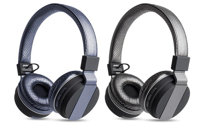 55 off on photive bluetooth headphones groupon goods. Black Bedroom Furniture Sets. Home Design Ideas