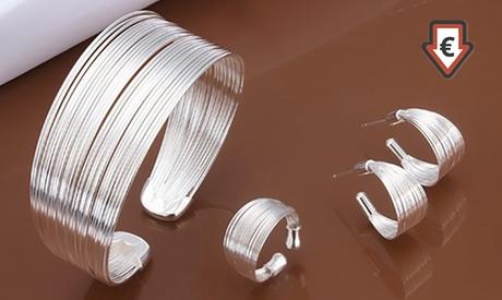 1, 2 o 3 sets de joyería bañada en plata Moony Oferta en Groupon