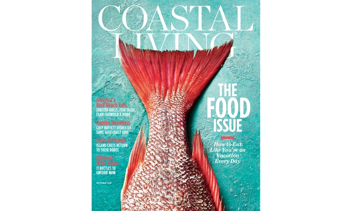 1  Or 2 Year Subscription To Coastal Living Magazine