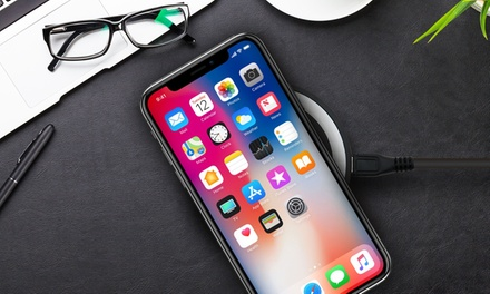 Wireless Charging Pad with USB Cable for iPhone 8, 8 Plus and X
