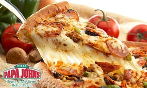 Papa John's: Medium or Large 'Create Your Own' Pizza at Papa John's, Valid at Four Locations (Up to 59% Off)
