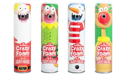 Crazy Foam Kid's Holiday-Themed Foaming Body Wash (2- or 4-Pack; 7oz. Each)