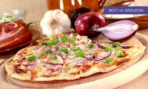 Körri Speisekontor: Großer Flammkuchen nach Wahl für zwei oder vier Personen im Körri Speisekontor (bis zu 60% sparen*)