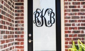 Metal Unlimited: One or Two Vine Monogram Signs from Metal Unlimited (Up to 51% Off)