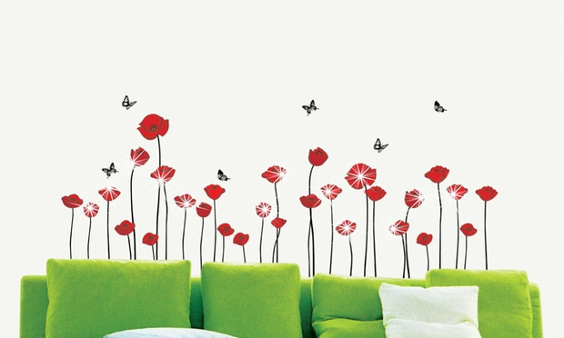 stickers coquelicot leroy merlin my blog. Black Bedroom Furniture Sets. Home Design Ideas