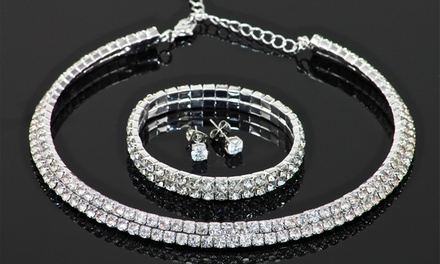 Conjunto de joyas decorado con cristales de Swarovski® por 12,90 € (93% de descuento)