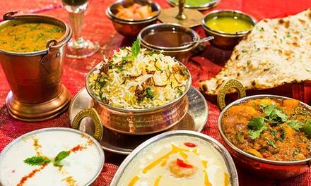 Menu indiano con vino