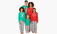 Matching Family Pajamas in Holiday Fair Isle Print (2-Piece Set) (Adult S, M, L, XL)