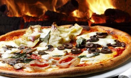 Pizza con dolce e birra o vino