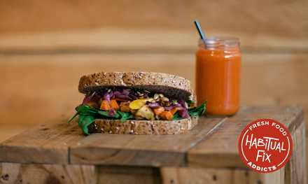 Wrap, Sandwich or Salad for One ($6.99), Two ($12.99) or Four ($24.99) at Habitual Fix, 6 Locations (Up to $47.60 Value)