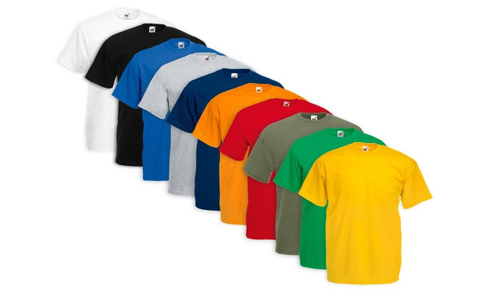 Pack de 10 camisetas Fruit of the Loom disponible en varias combinaciones de colores por 16,99 €