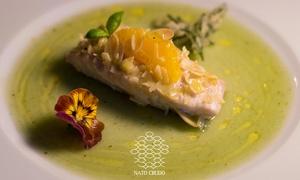 Nato Crudo: Menu gourmet di pesce alla carta o degustazione di 8 portate con vino al ristorante Nato Crudo (sconto fino a 64%)